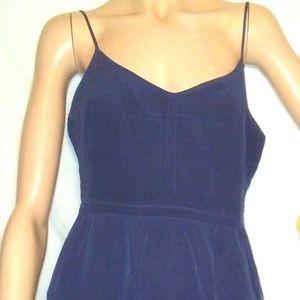 Madewell Sz 10 Navy Blue Silk Slip Dress /Sundress